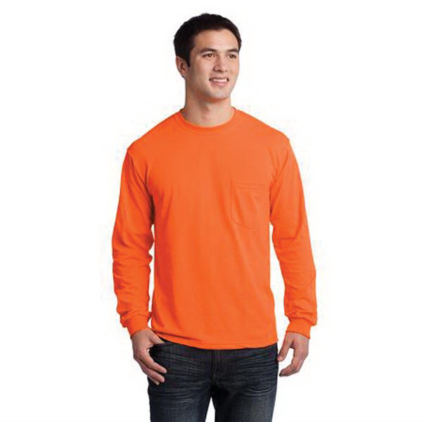 Custom Gildan Ultra Cotton (TM) 100% cotton long sleeve t-shirt