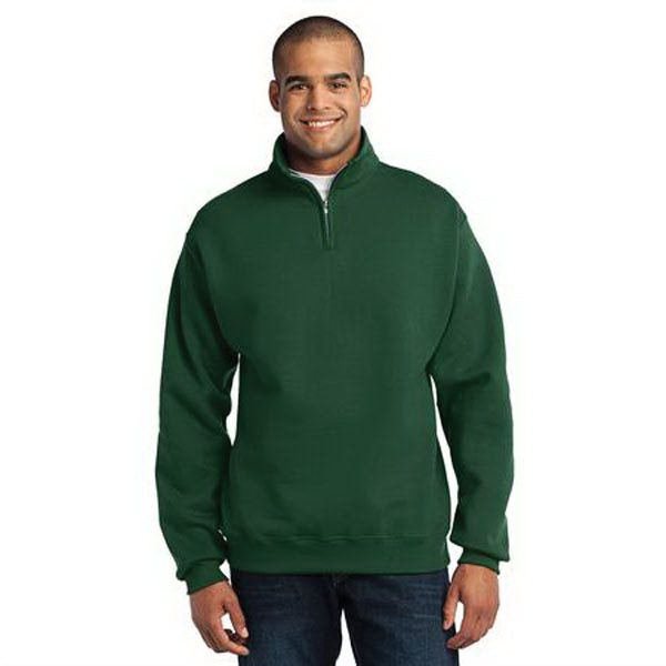 Printed Jerzees (R) 1/4 Zip Cadet Collar Sweat Shirt