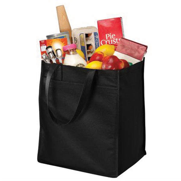 Imprinted Port Authority (R) Extra-Wide Polypropylene Grocery Tote