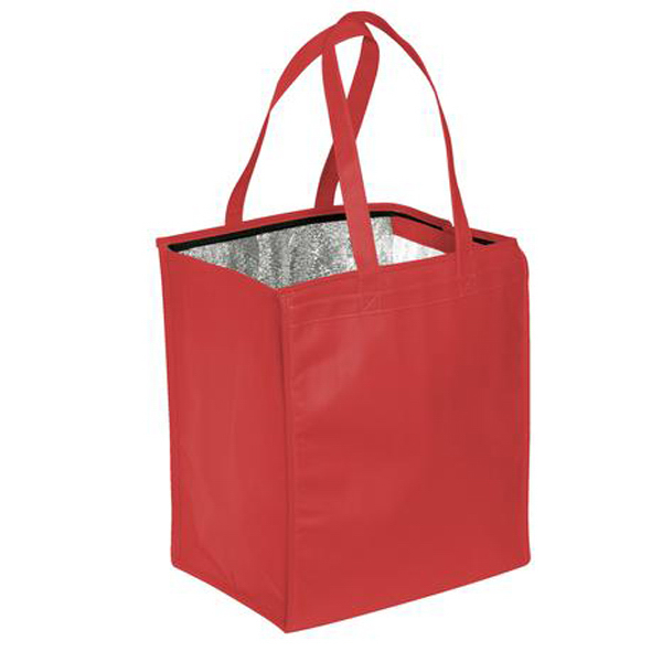 Custom Port Authority (R) Insulated Polypropylene Grocery Tote