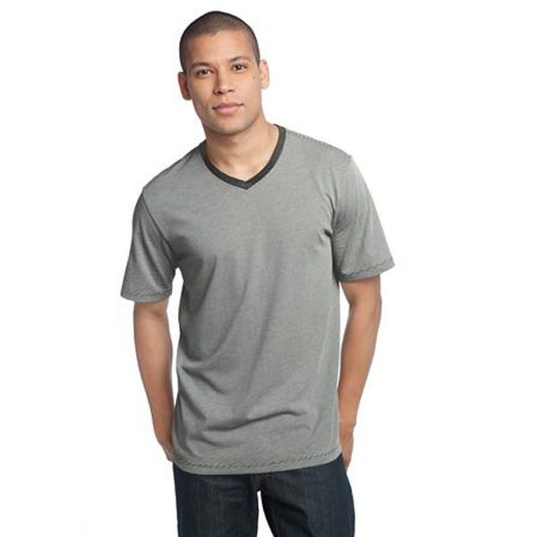 Personalized District Made® Men's mini stripe notch crew tee