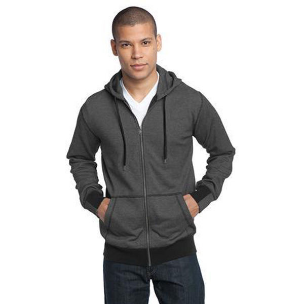 Customized District (R) Men's mini stripe full zip hoodie
