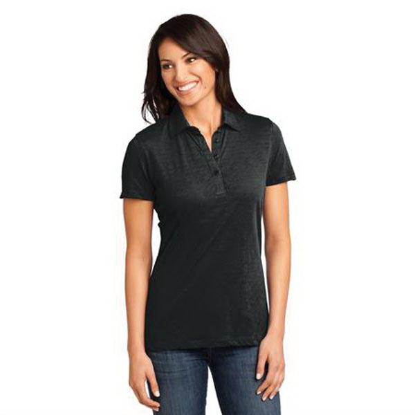Printed District Made (TM) Ladies' Slub Polo