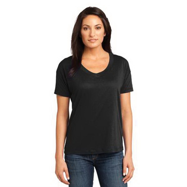 Personalized District Made® ladies' modal relaxed V-neck tee