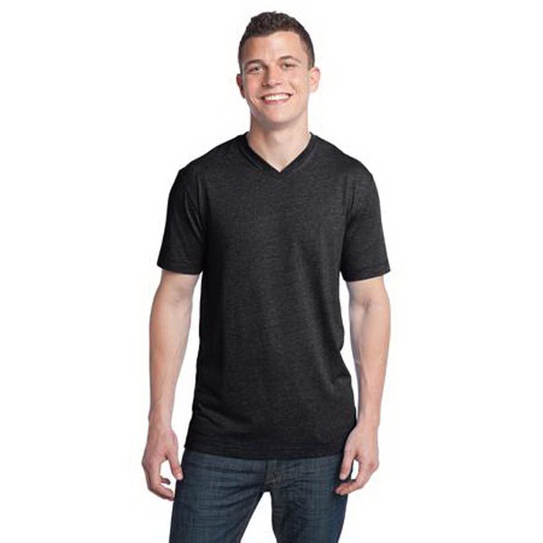 Customized District (R) young men's tri-blend v-neck tee