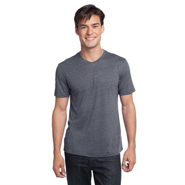 Custom District (R) young men's textured notch crew tee