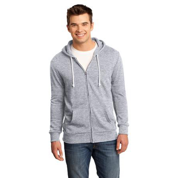 Imprinted District (R) young men's core fleece full zip hoodie