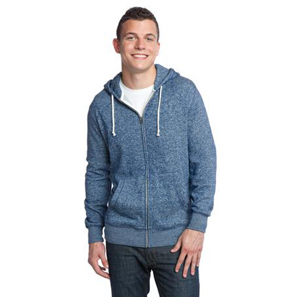 Printed District (R) young men's marled full zip hoodie