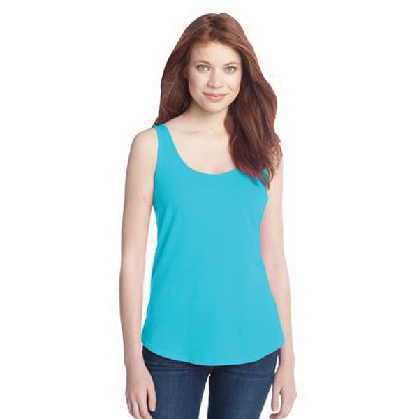 Imprinted District (R) juniors cotton swing tank