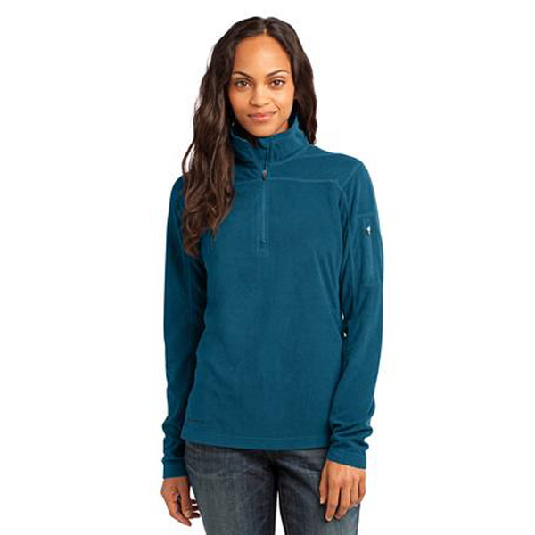 Customized Ladies' Port Authority (R) 1/4 zip grid fleece pullover