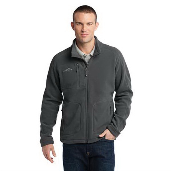 Custom Eddie Bauer (R) wind resistant full zip fleece jacket
