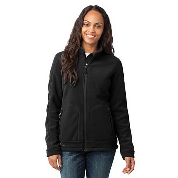 Custom Eddie Bauer (R) ladies wind resistant full zip fleece jacket