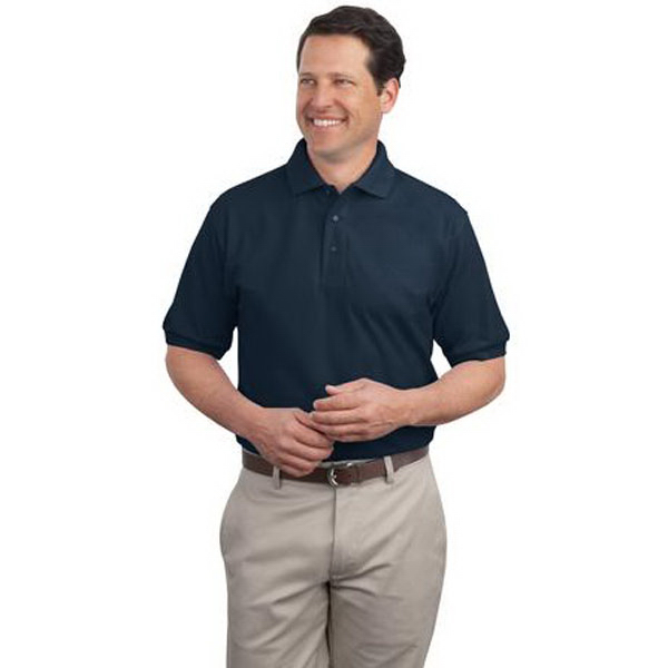 Printed Port Authority® Silk Touch extended size polo