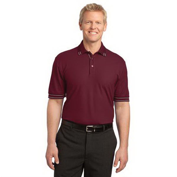 Personalized Port Authority (R) Silk Touch (TM) Tipped Polo