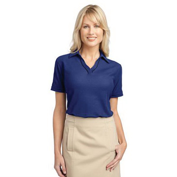 Promotional Port Authority (R) Ladies' Silk touch (TM) Piped Polo