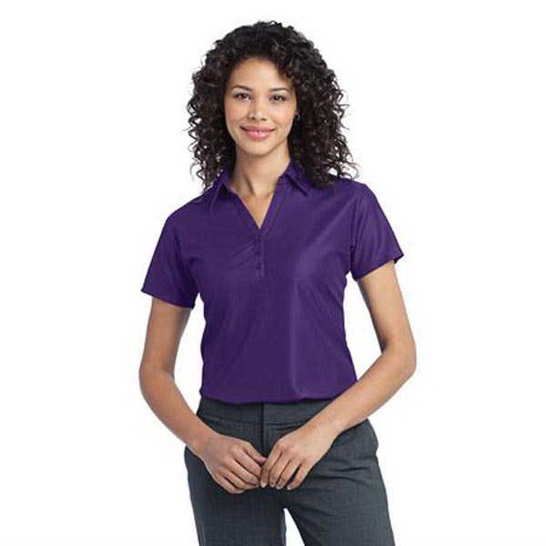 Printed Port Authority (R) Performance Vertical Pique Ladies Polo