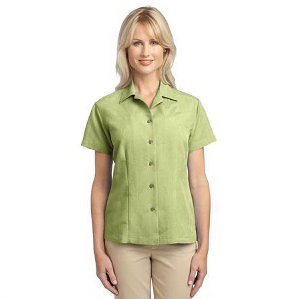 Customized Port Authority (R) Ladies' Patterned Easy Care Camp Shirt