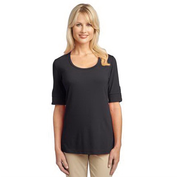 Personalized Port Authority (R) Ladies' Concept Scoop Neck Shirt