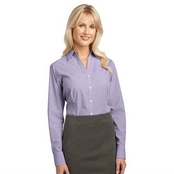 Promotional Port Authority (R) Ladies plaid pattern easy care shirt