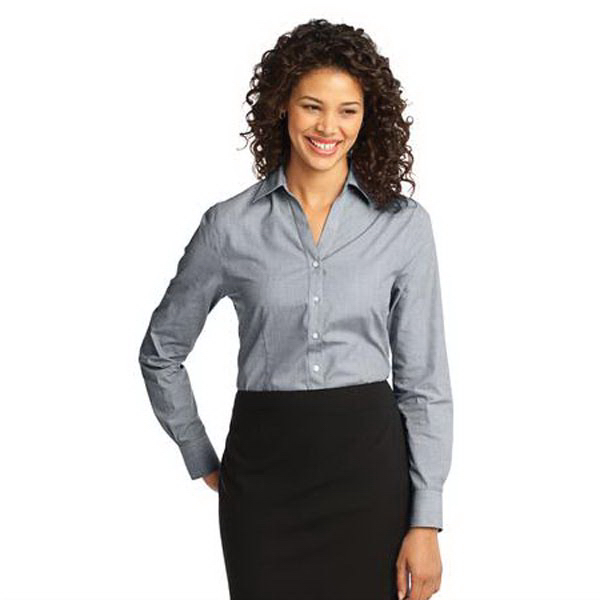 Promotional Ladies' Port Authority (R) crosshatch easy care shirt