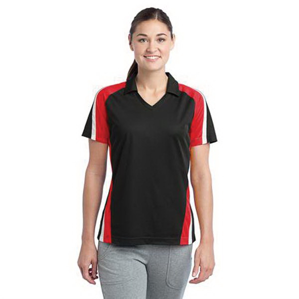 Printed Ladies' tricolor micropique Sport-Wick (R) polo