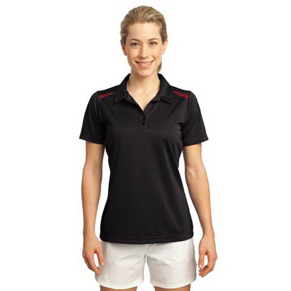 Imprinted Sport-Tek (R) Ladies' Vector Sport-Wick (R) Polo