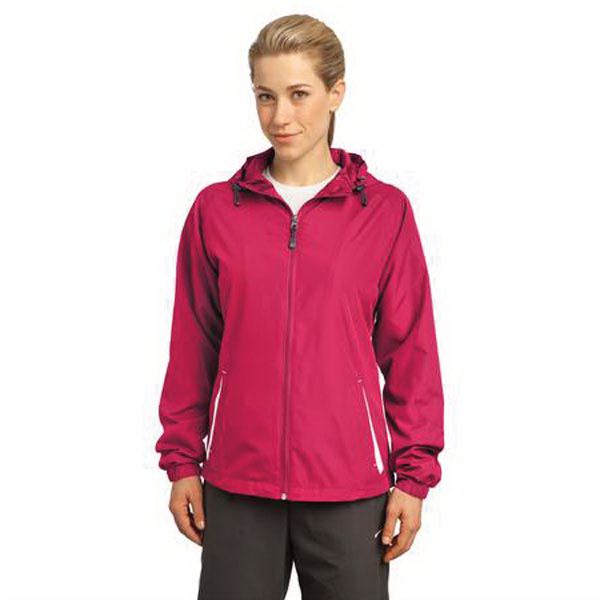 Personalized Sport-Tek (R) Ladies' color block hooded jacket