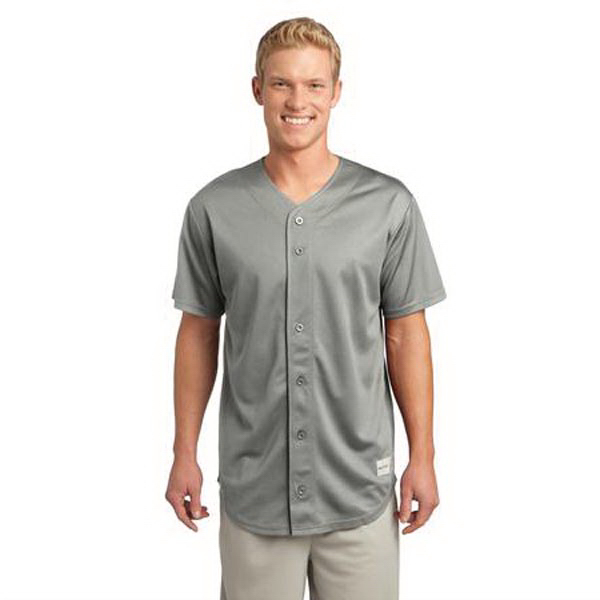 Customized Sport-Tek (R) PosiCharge (TM) Tough Mesh Full Button Jersey