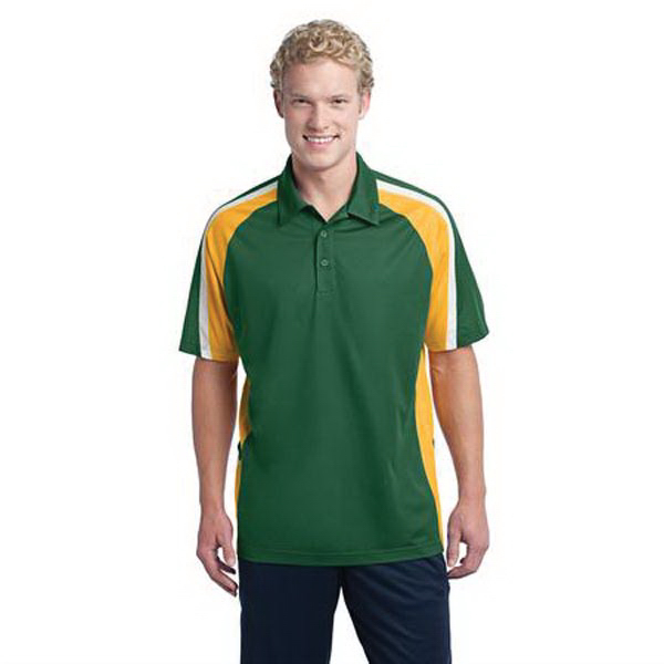 Custom Tricolor micropique Sport-Wick (R) polo