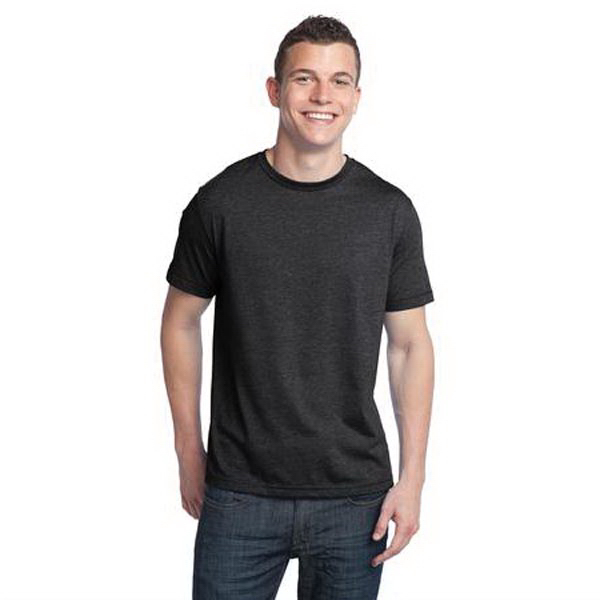 Promotional District® tri-blend young men's crewneck tee