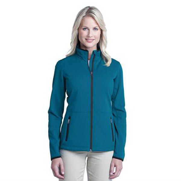 Printed Ladies' Port Authority (R) pique fleece jacket