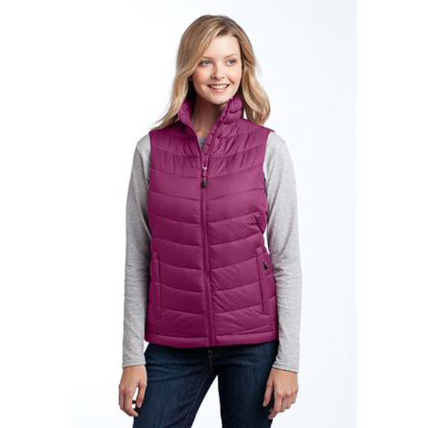 Customized Port Authority (R) Ladies' Mission hooded puffy vest