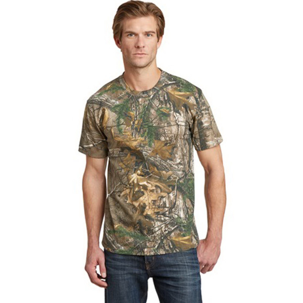 Customized Russell Outdoors (TM) Realtree explorer 100% cotton t-shirt