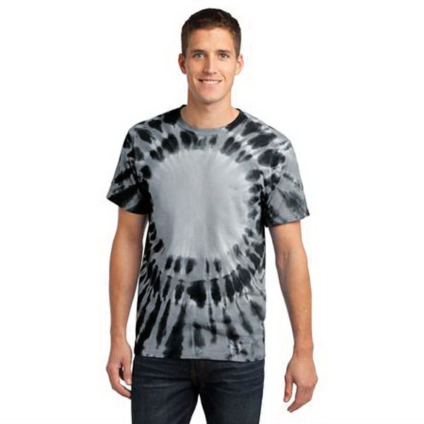 Printed Port & Company (R) essential window tie-dye tee