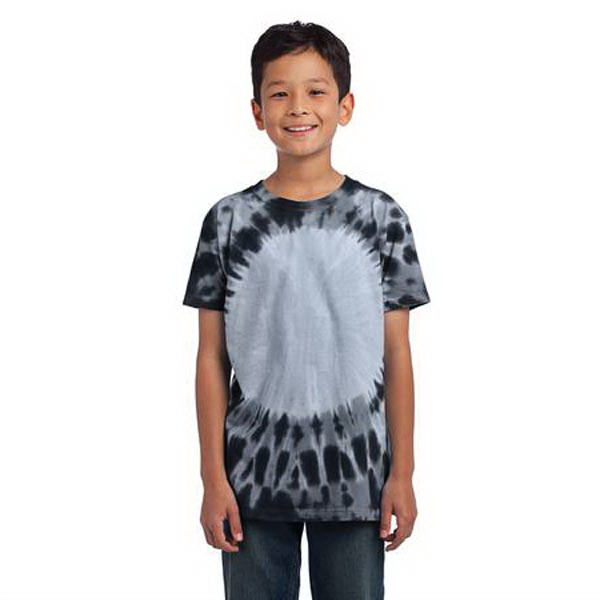 Custom Port & Company (R) youth essential window tie-dye tee