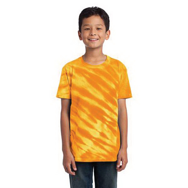 Promotional Port & Company (R) youth essential tiger stripe tie-dye tee