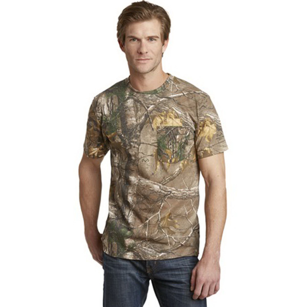 Promotional Russell Outdoors (TM) Realtree explorer pocket t-shirt