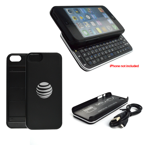 Custom Ultra-thin slide-out backlit bluetooth keyboard for iPhone 5