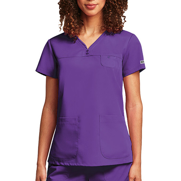 Imprinted Grey's Anatomy (TM) 3 Pocket V-neck Top