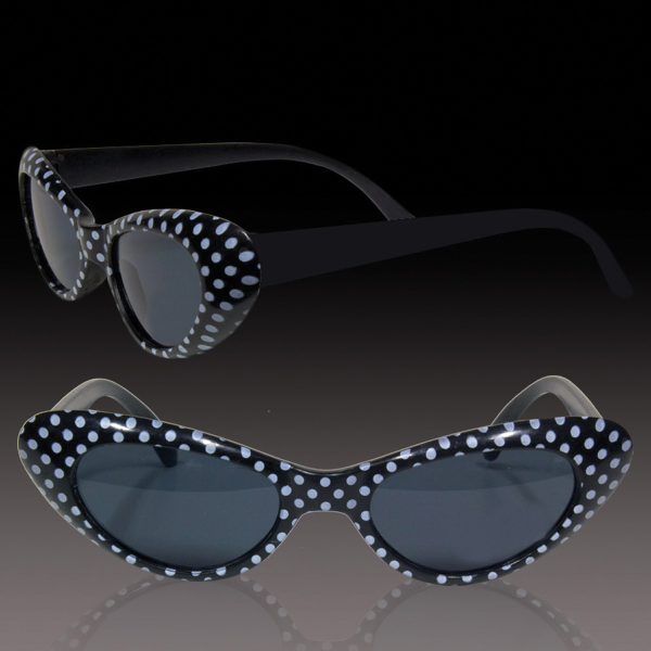 Imprinted Black Polka Dot Funky Glasses