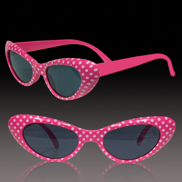 Personalized Pink Polka Dot Funky Glasses