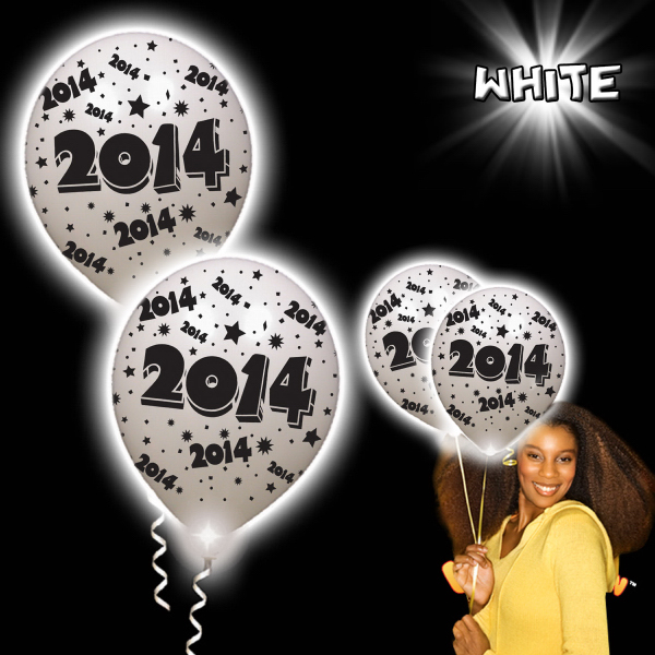 Promotional 2014 White Pro Lumi Loons With White LED Lights