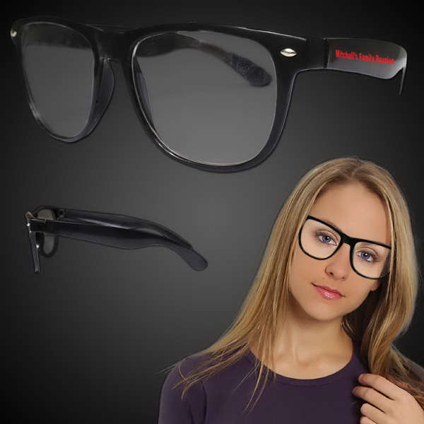 Personalized Black Frame 50's Eyeglasses