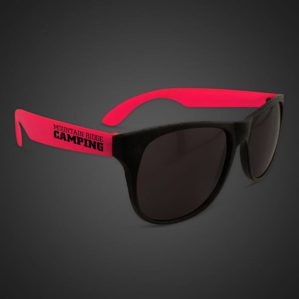 Promotional Neon Sunglasses With Red Arms