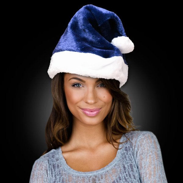 Customized Navy Blue Santa Claus Hat