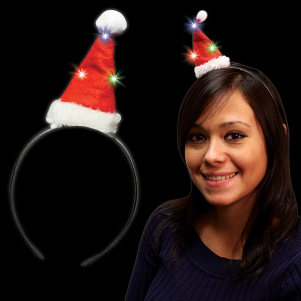 Personalized Santa Hat Light Up Fascinator