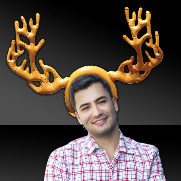 Personalized Inflatable Reindeer Antlers