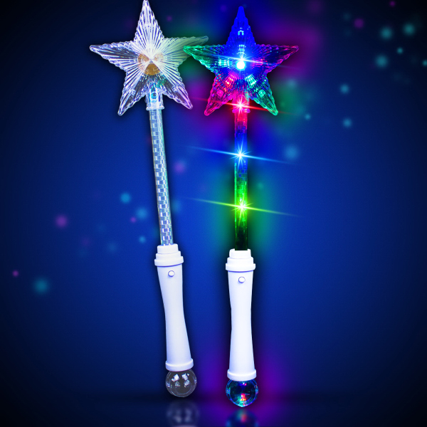 "Printed 15"" Multi Color LED Star Wand"