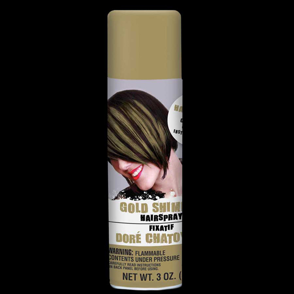 Personalized Gold Shimmer Hair Spray