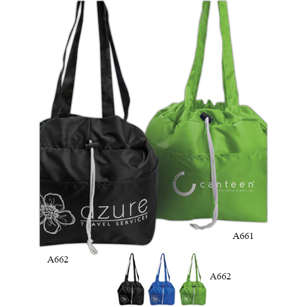 Personalized Printed Drawstring Lunch Tote